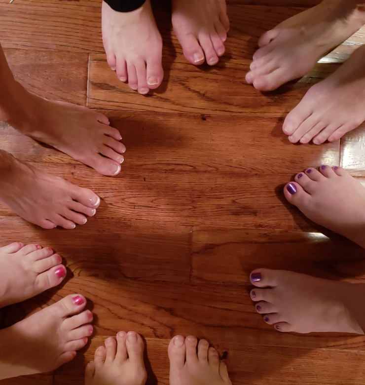Feet on floor