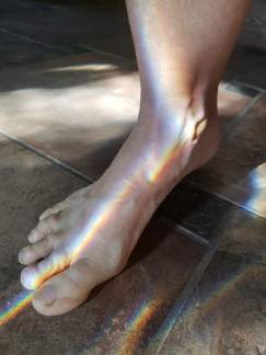 Foot rainbow 1